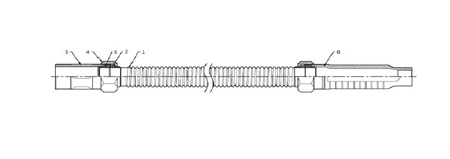 Гибкая спринклерная подводка без стальной оплетки